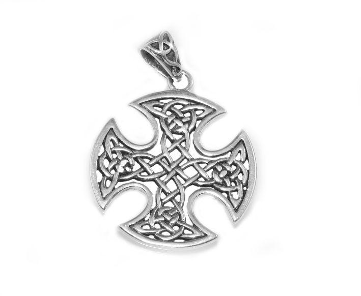 Stříbrný přívěsek Keltský uzlový kříž