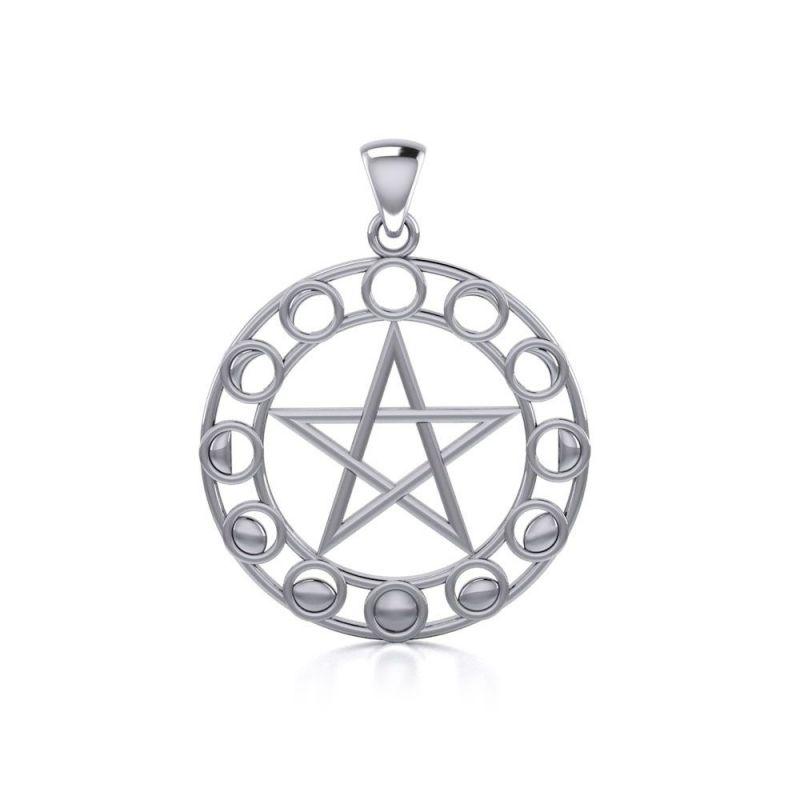 Stříbrný přívěsek Pentagram250515