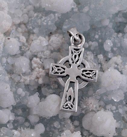 Stříbrný přívěsek Keltský kříž No.07