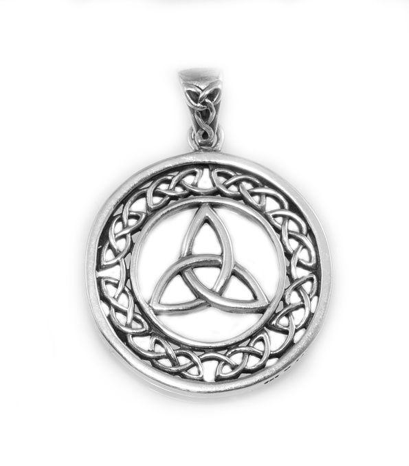 Stříbrný přívěsek Keltský uzel v Kruhu