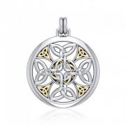 Stříbrný zlacený přívěsek Keltský kříž