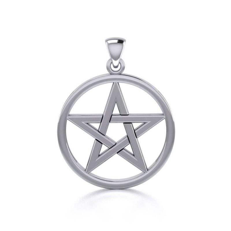 Stříbrný přívěsek Pentagram 250213
