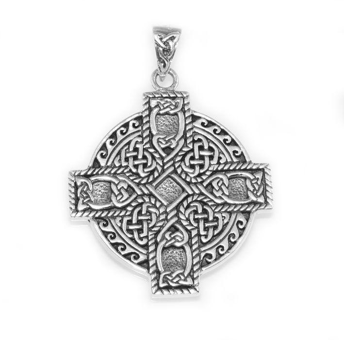 Stříbrný přívěsek Keltský kříž z zly 250536