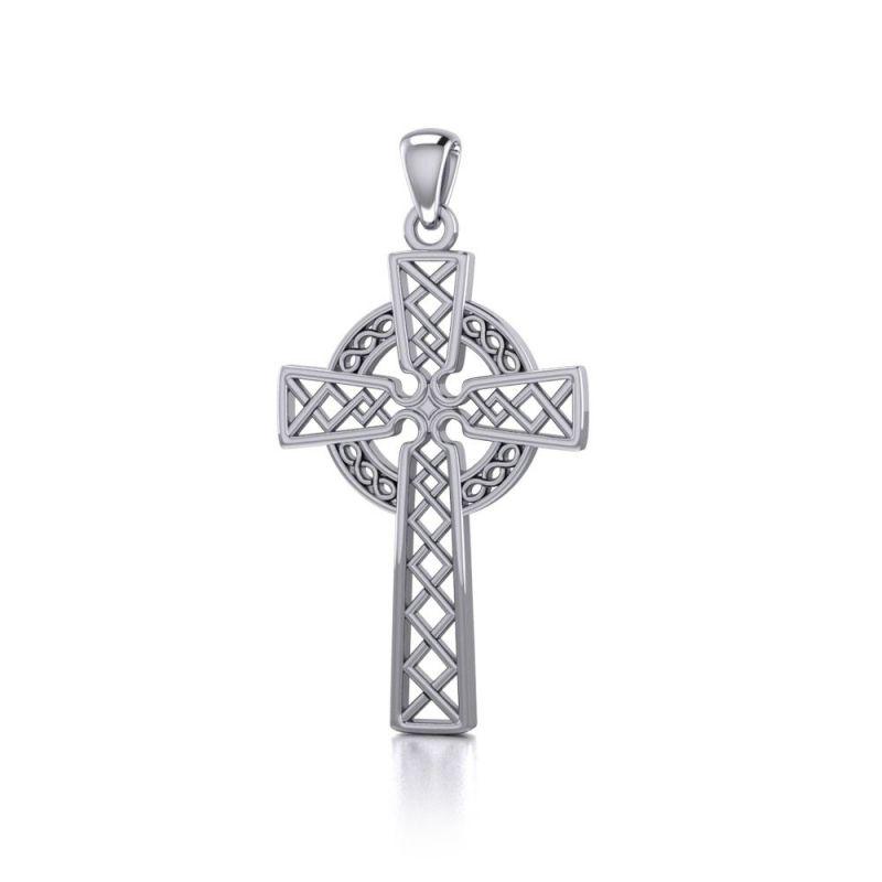 Stříbrný přívěsek Keltský kříž 250514