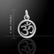 Stříbrný přívěsek symbol Óm