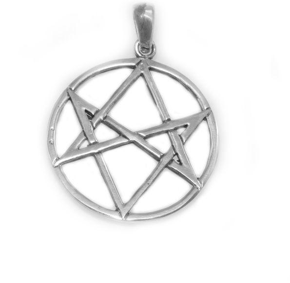 Stříbrný přívěsek Unikursální Hexagram