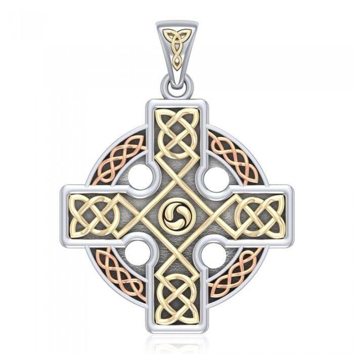 Stříbrný přívěsek Keltský kříž 25510