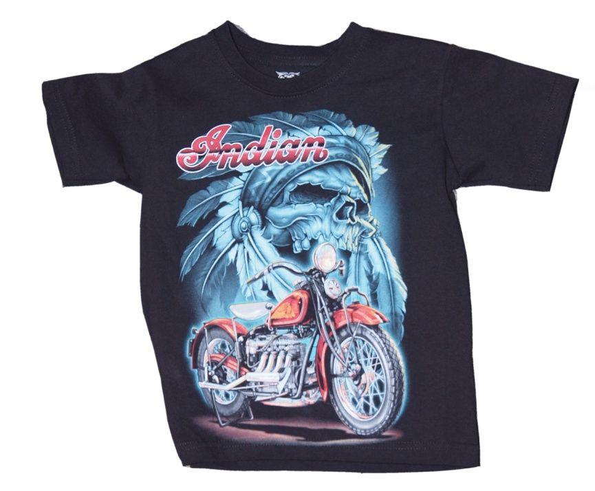 Dětské značkové motorkářské tričko Indian Rockvolution