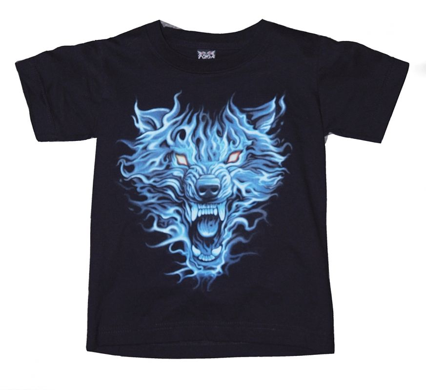 Dětské značkové tričko Vlk