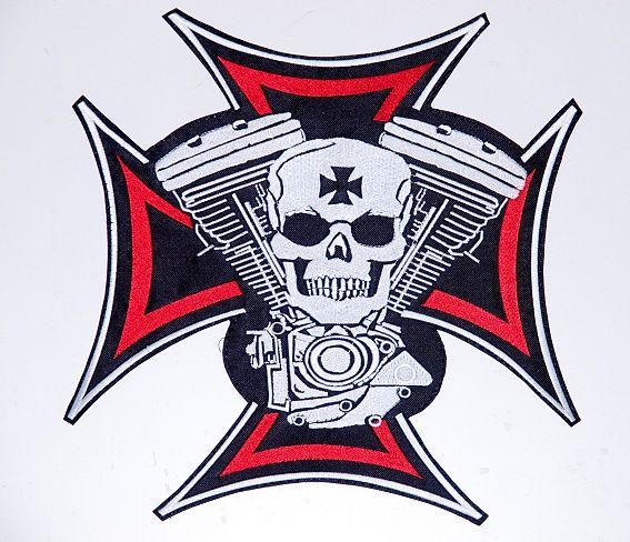 Nášivka válečný kříž s lebkou