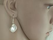 3.Náušnice přírodní Perleť