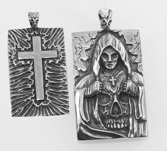 Přívěsek z chirugické oceli Poutník smrti III.