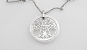 Přívěsek z chirugické oceli Pentagram a Strom života nr.03