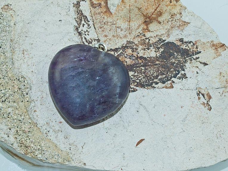 1. Přívěsek Srdce nr. 05 Ametyst Chevron