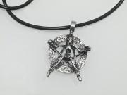 Přívěsek Pentagram s kostrou