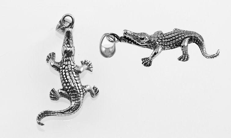 Přívěsek z chirugické oceli Krokodýl