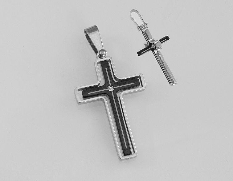Přívěsek z chirugické oceli Kříž Smatone RiverSperky