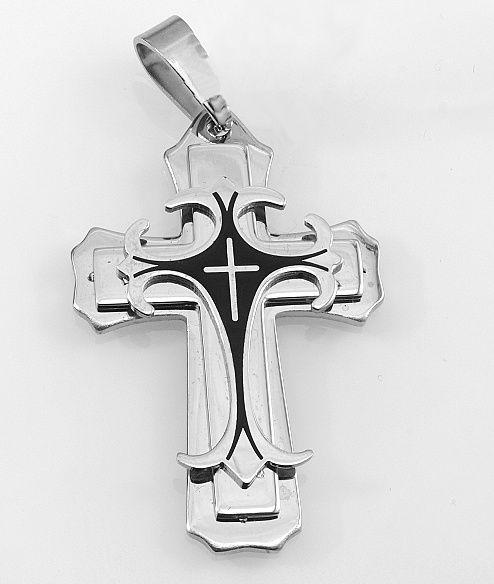 Přívěsek z chirurgické oceli Kříž Kaddarn