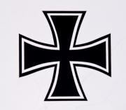Samolepka Maltézský kříž
