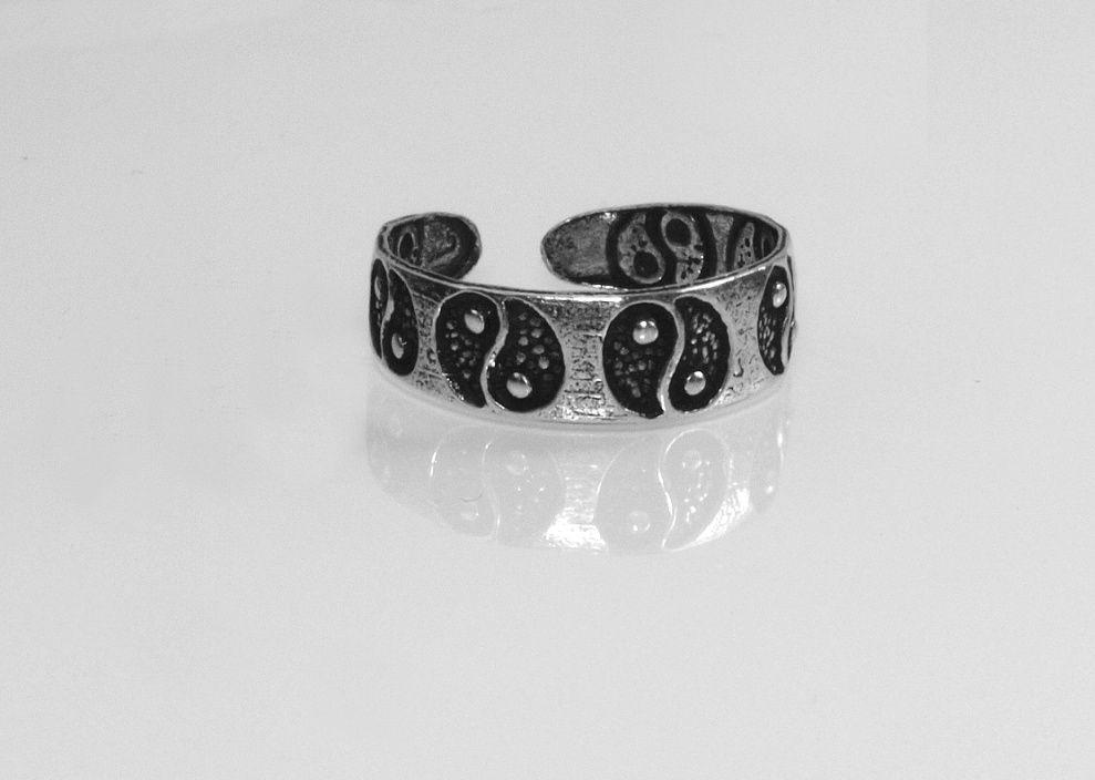 1. Stříbrný prstýnek na nohu Nr. 4500501