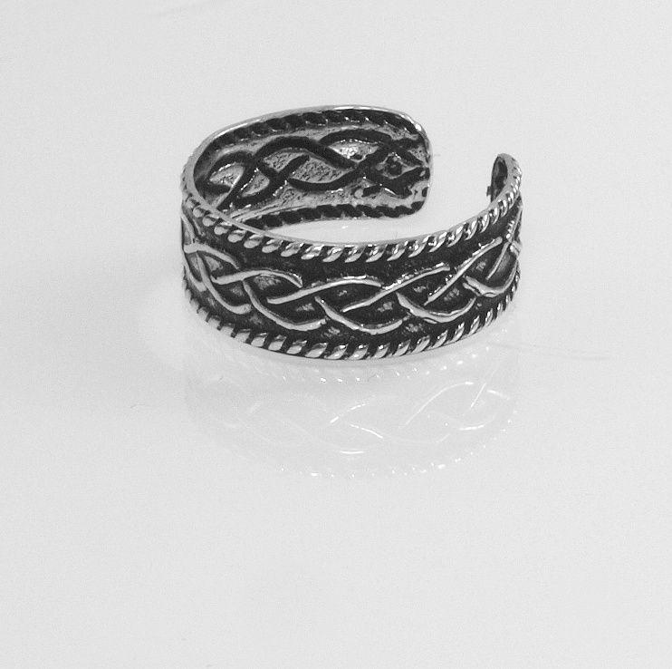 1.Stříbrný prstýnek na nohu Nr.4500505