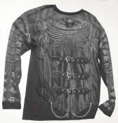 2.Tričko s dlouhým rukávem Goth Wrap A