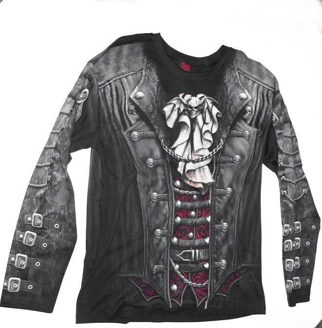 1.Tričko s dlouhým rukávem Goth Wrap A