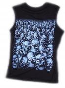 Tričko  Modré lebky