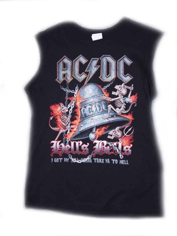Značkové tričko bez rukávu ACDC 3