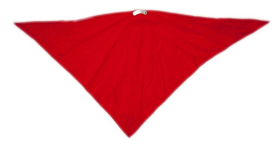 Šátek na obličej, červený bez potisku
