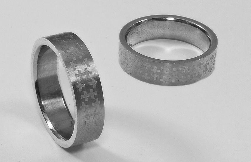 Prsten z chirurgické oceli kroužek 202009