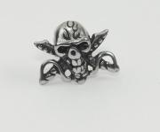 Náušnice Pirátská lebka