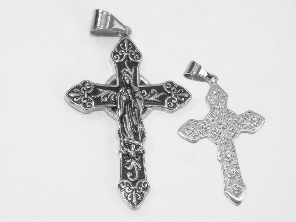 Přívěsek chirurgická ocel Křesťanský Kříž no. 012