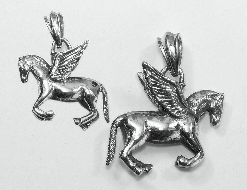 Přívěsek chirurgická ocel, bájný kůň Pegas
