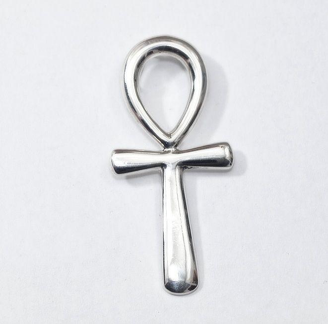 1. Stříbrný přívěsek Nilský kříž Anch