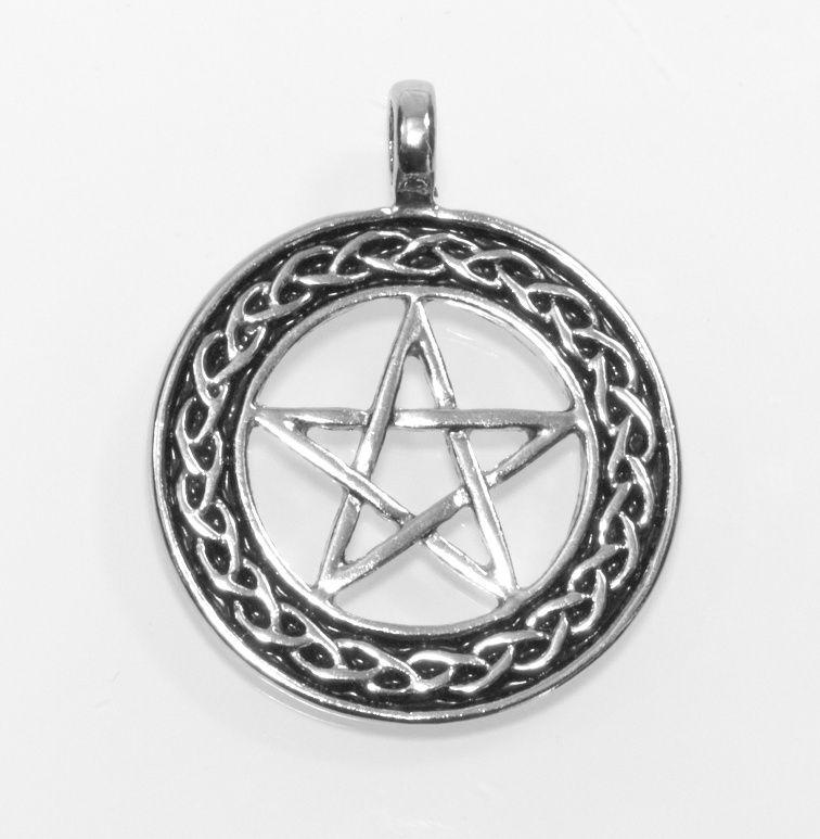 1. Přívěsek z anglického cínu Pentagram Nr. 031