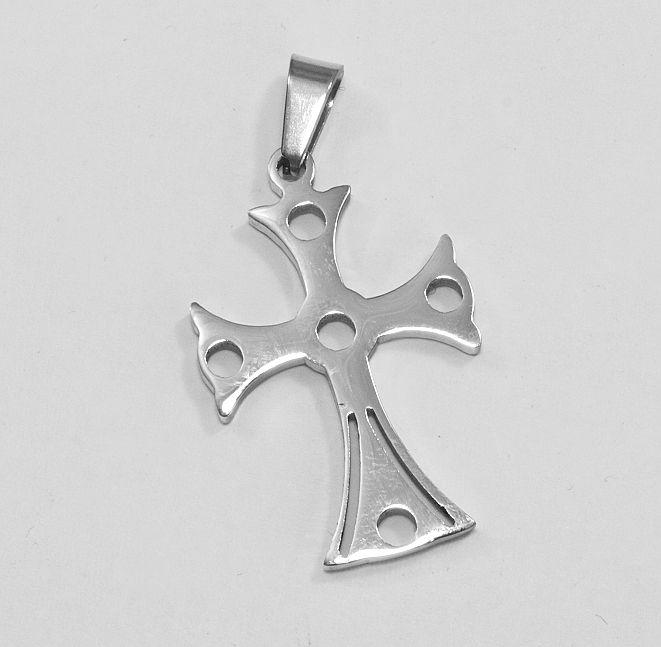 Přívěsek chirurgická ocel Kříž nr. 030