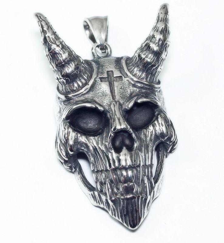 Přívěsek chirurgická ocel Hlava Satana