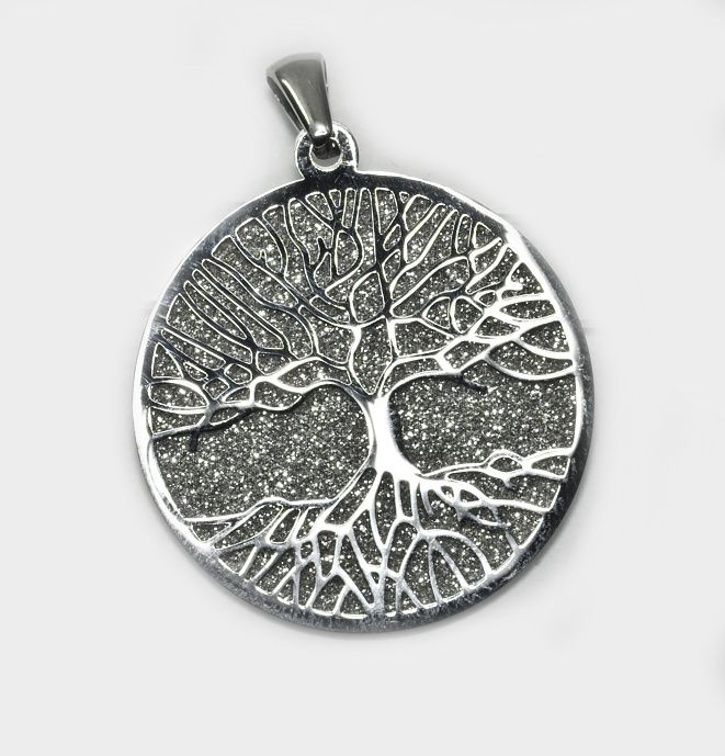 1. Přívěsek  z chirurgické oceli Strom života nr. 026
