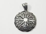 2.1. Přívěsek z chirurgické oceli stříbrná varianta, Islandská runa