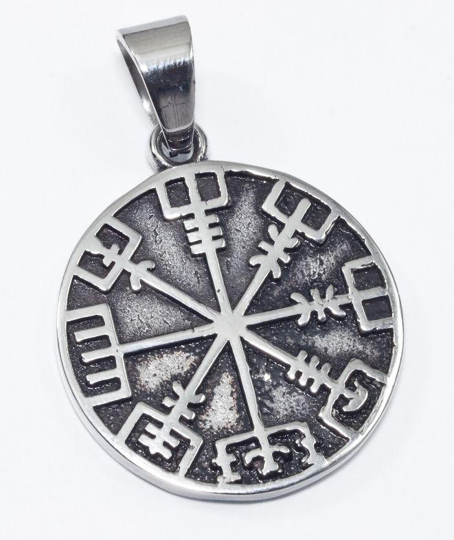Přívěsek chirurgická ocel Vegisvír Islandská runa