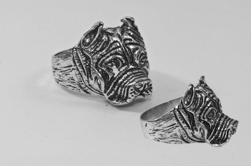 Prsten z chirurgické oceli Buldok