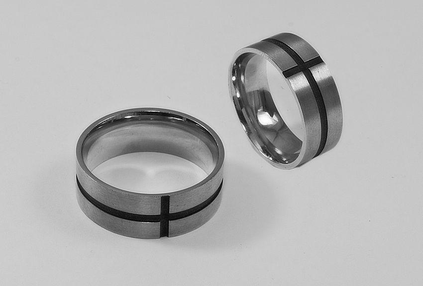 Prsten z chirurgické oceli Kroužek model 202008