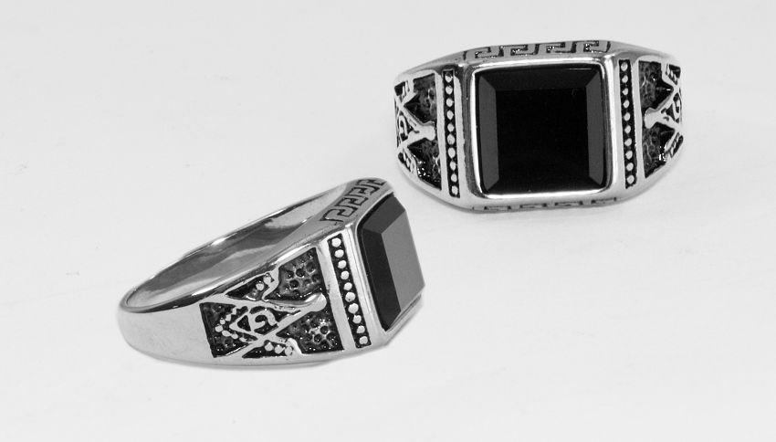 Prsten Chirurgická ocel Zednářský prsten