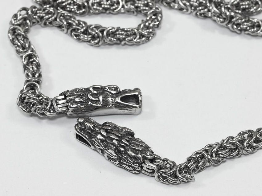 Řetízek s chirurgické oceli Královský s drakem