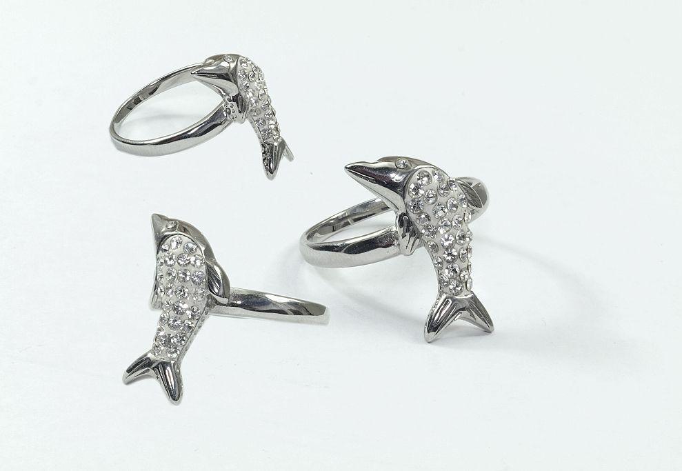 Prsten chirurgická ocel Delfínek