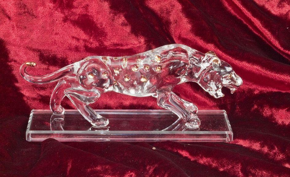 Skleněná dekorace Puma