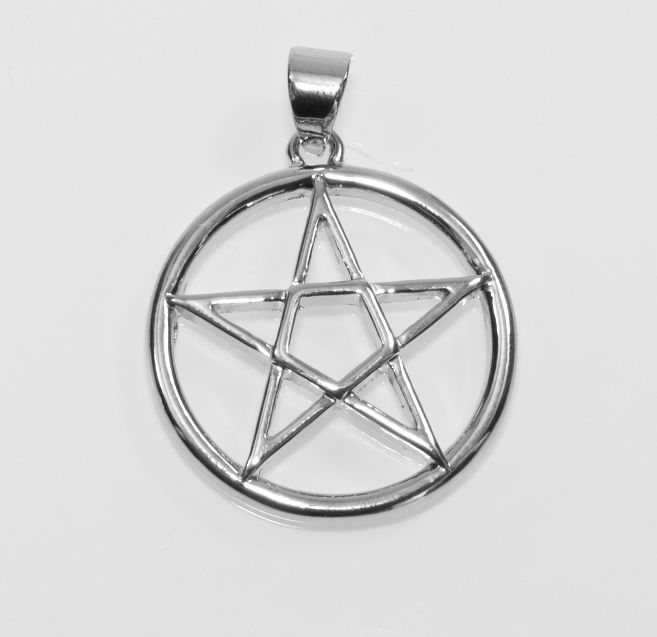 1. Přívěsek z anglického cínu Pewter, Pentagram nr. 030