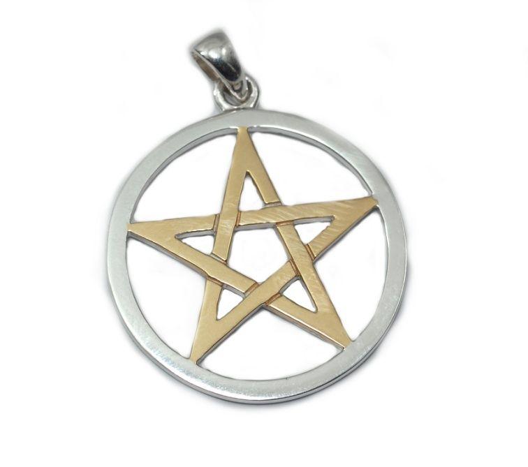 1.Stříbrný přívěsek Pentagram TPV089