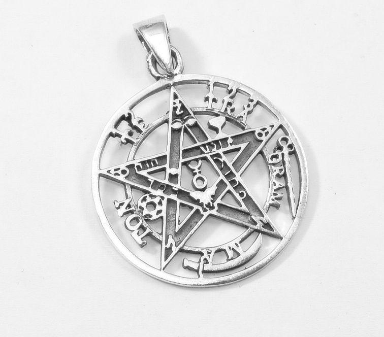 Stříbrný přívěsek Pentagram  Elephas Levi.